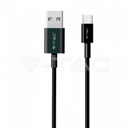 1м. Тип C USB Кабел Черен Серия