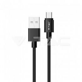 1м. Микро USB Кабел Черен Серия