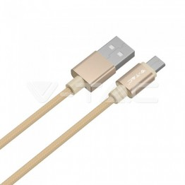 1м. Микро USB Кабел Злато Серия