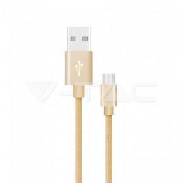 1м. Тип C USB Кабел Злато Серия