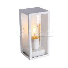 Стенна Лампа 1*27 Бяла Прозрачна