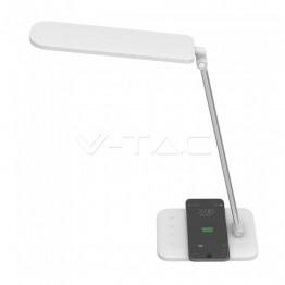16W LED Настолна Лампа Безжично зареждане 3 в 1 Бяла