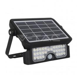 5W LED Соларен Прожектор Черно Тяло 4000K