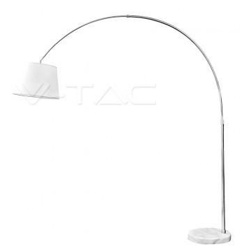 LED Floor Lamp E27 Ivory Lamp Shade