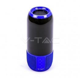 2*3W LED Лампа Колона USB + TF Слот Синя
