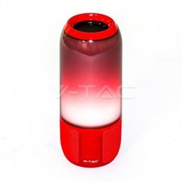 2*3W LED Лампа Колона USB + TF Слот Червена