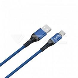 1м. Тип C USB Кабел Син Серия