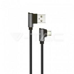 1м. Микро USB Кабел Черен - Серия