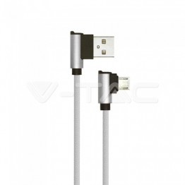 1м. Микро USB Кабел Сив - Серия