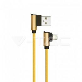 1м. Микро USB Кабел Злато - Серия