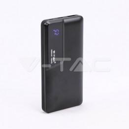 10000 mAh Външна Батерия Дисплей USB Тип C Черна