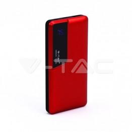 10000 mAh Външна Батерия Дисплей USB Тип C Червена
