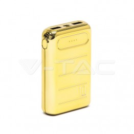 Външна Батерия Златна USB C+B 10000 mAh Златна